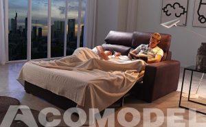 Roda un sofá cama de Acomodel diferente