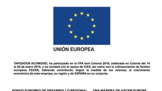 UNA MANERA DE HACER EUROPA, ACOMODEL IMM COLONIA 2019