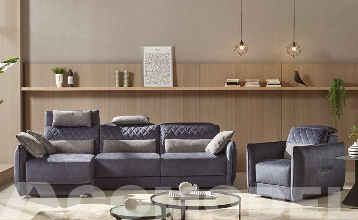 Adam lo nuevo de Acomodel, nuevo sofá en sistema fijo o sistema eléctrico.